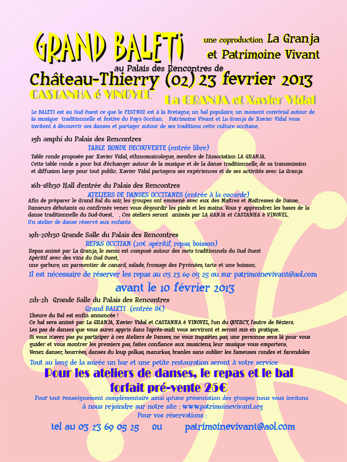 Programme du baléti du 23 février 2013 à Château-Thierry (02400)