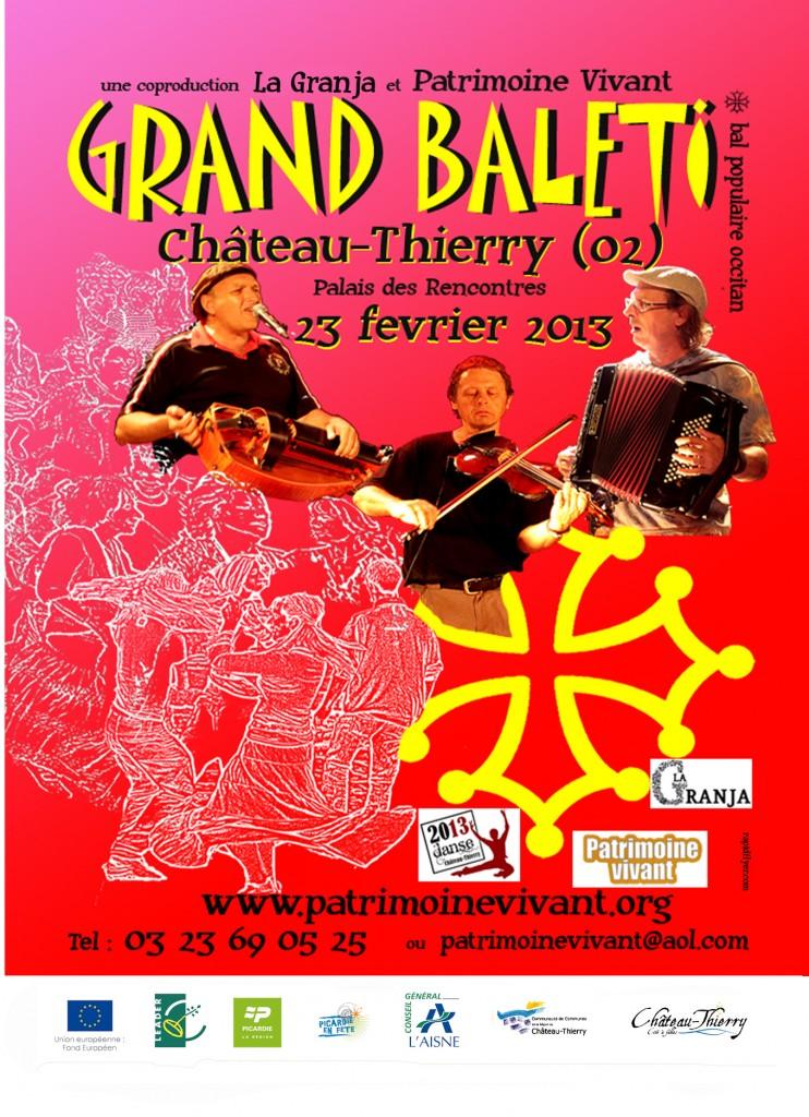 Bal folk baléti samedi 23 février à Château-Thierry (02400)
